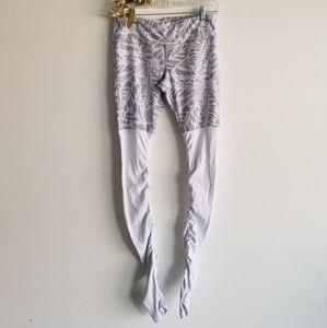 ALO YOGA White and Gray Leggings